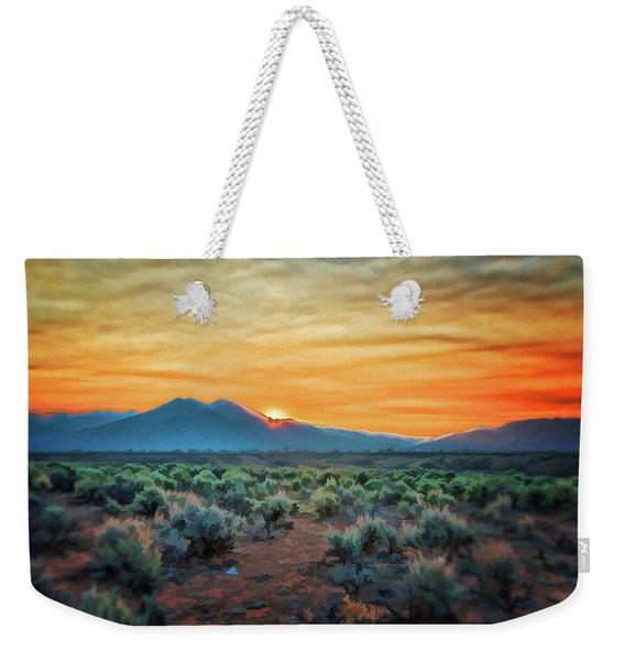 Sunrise Over Taos II Weekender Tote Bag