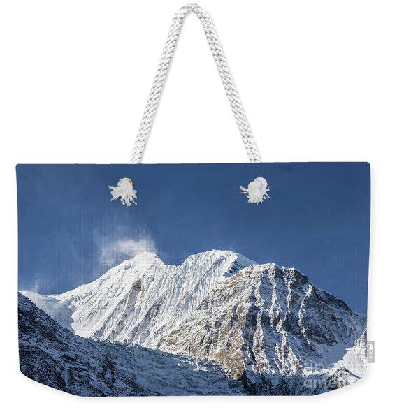 Sunrise Over The Gangapurna Peak At 7545m In The Himalayas In Ne Weekender Tote Bag