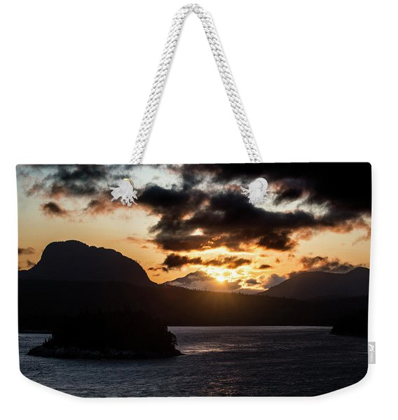 Sunrise Over The Inland Passage Weekender Tote Bag