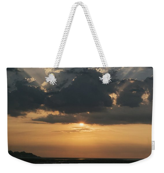 Weekender Tote Bag featuring the photograph Sunrise Over The Isle Of Wight by Clayton Bastiani