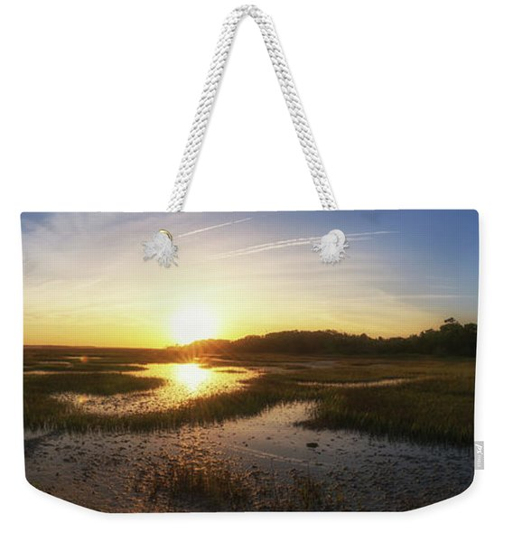 Sunrise Over The Marsh Pano Weekender Tote Bag