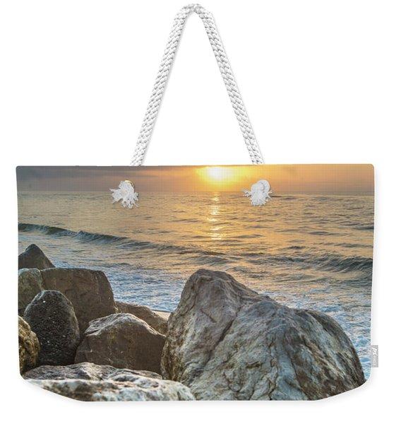 Sunrise Over The Rocks  Weekender Tote Bag