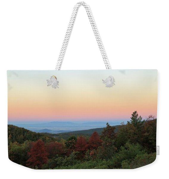 Sunrise Over The Shenandoah Valley Weekender Tote Bag