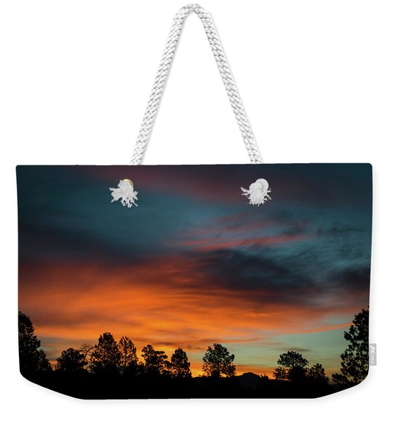 Weekender Tote Bag featuring the photograph Sunrise Over The Southern San Juans by Jason Coward