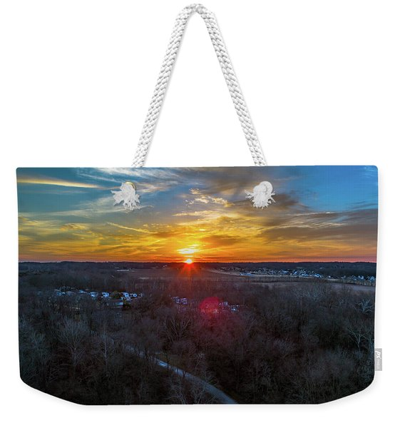 Sunrise Over The Woods Weekender Tote Bag