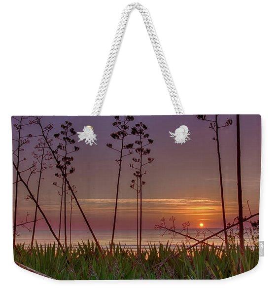 Sunrise Palm Blooms Weekender Tote Bag