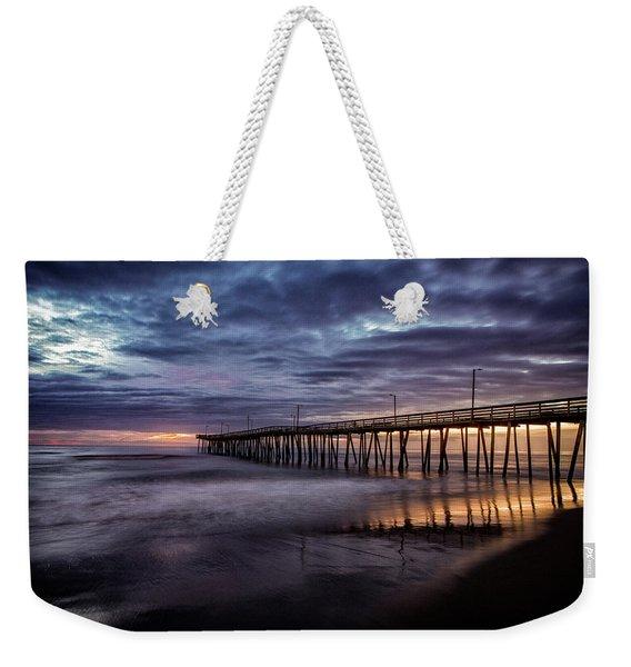 Sunrise Pier Weekender Tote Bag