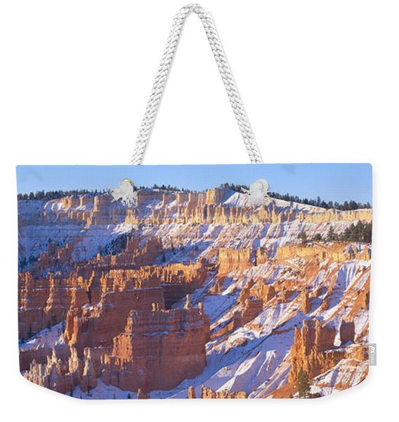 Sunrise, Red Rocks & Snow, Bryce Canyon Weekender Tote Bag
