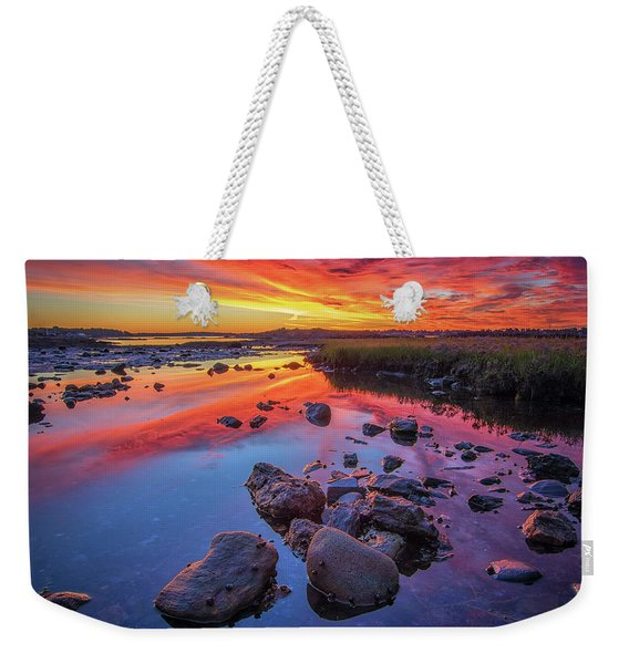 Sunrise Reflections In Harpswell Weekender Tote Bag