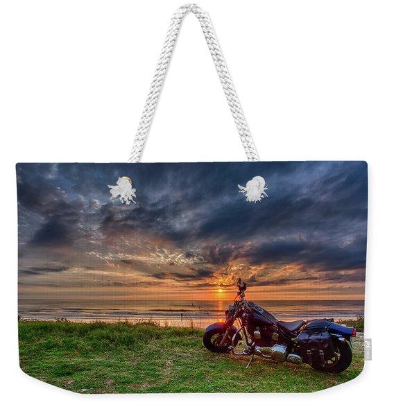 Sunrise Ride Weekender Tote Bag