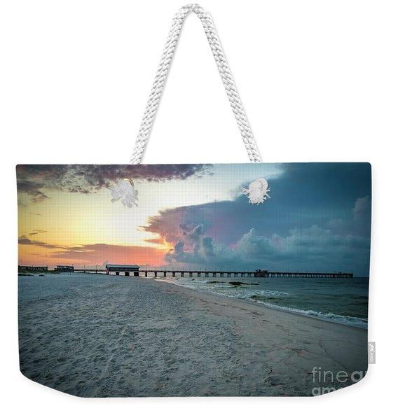 Sunrise Seascape Gulf Shores Al Pier 064a Weekender Tote Bag