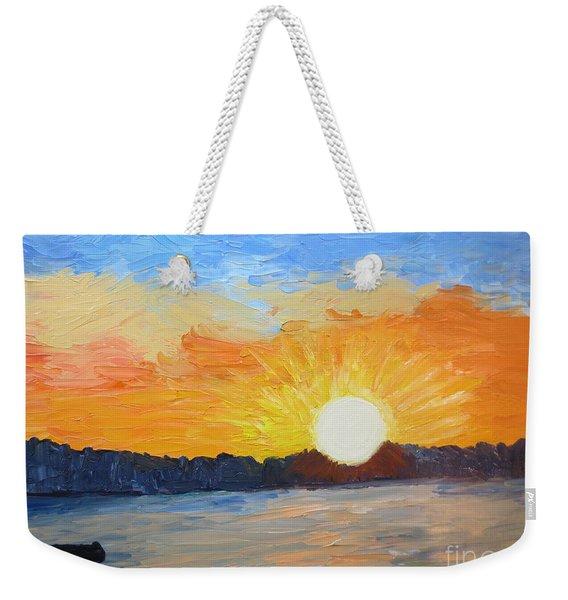 Sunrise At Pine Point Weekender Tote Bag