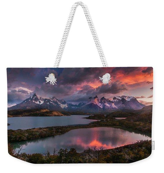 Sunrise Spectacular At Torres Del Paine. Weekender Tote Bag