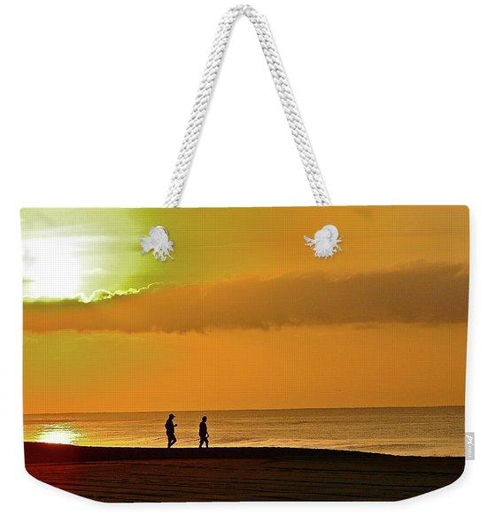 Sunrise Stroll Weekender Tote Bag