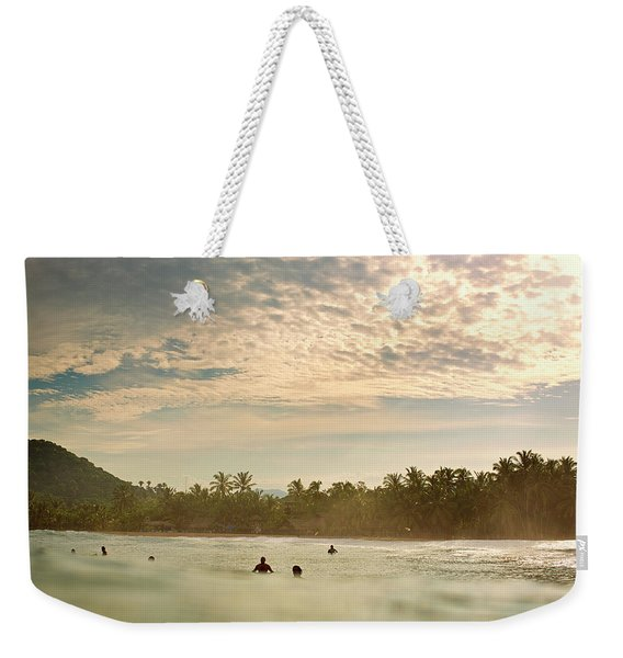 Sunrise Surfers Weekender Tote Bag