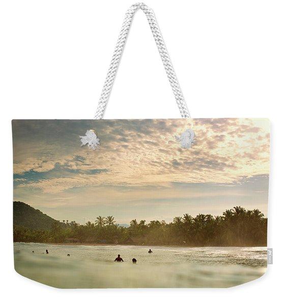Sunrise Surfers Weekender Tote Bag