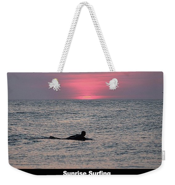 Sunrise Surfing Weekender Tote Bag
