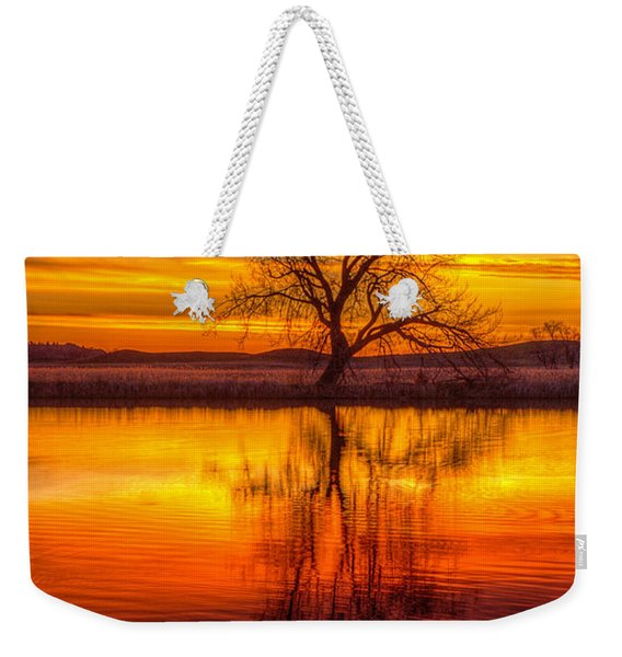 Sunrise Tree Weekender Tote Bag