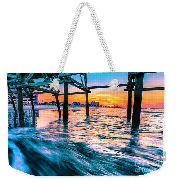Sunrise Under Cherry Grove Pier Weekender Tote Bag
