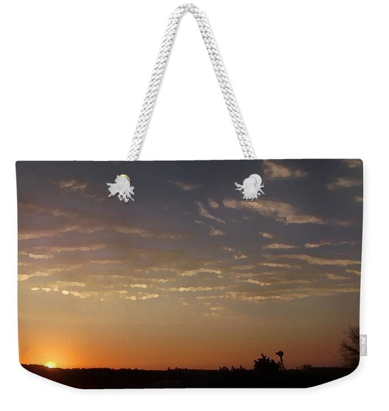 Sunrise With Windmill Weekender Tote Bag