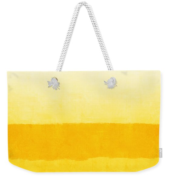 Sunrise- Yellow Abstract Art By Linda Woods Weekender Tote Bag