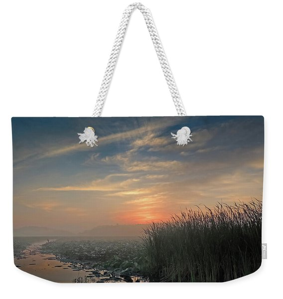 Sunrise Through The Fog Weekender Tote Bag