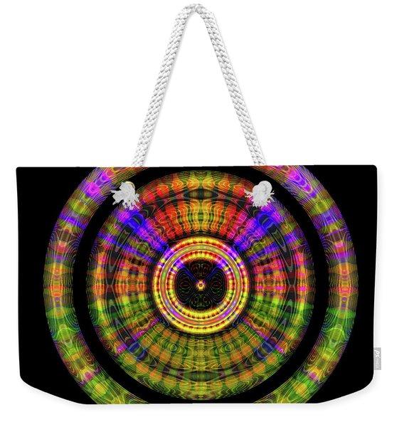Weekender Tote Bag featuring the digital art Sunset 2, Series II by Visual Artist Frank Bonilla