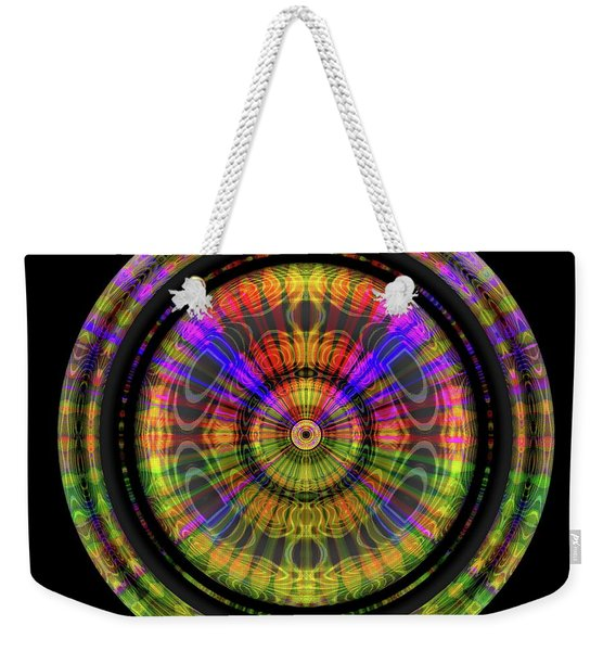 Weekender Tote Bag featuring the digital art Sunset 3, Series II by Visual Artist Frank Bonilla