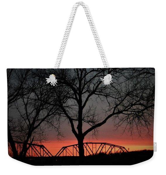 Sunset Across The Cumberland Weekender Tote Bag