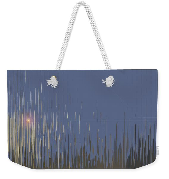 Weekender Tote Bag featuring the digital art Sunset Across The Lake by Gina Harrison