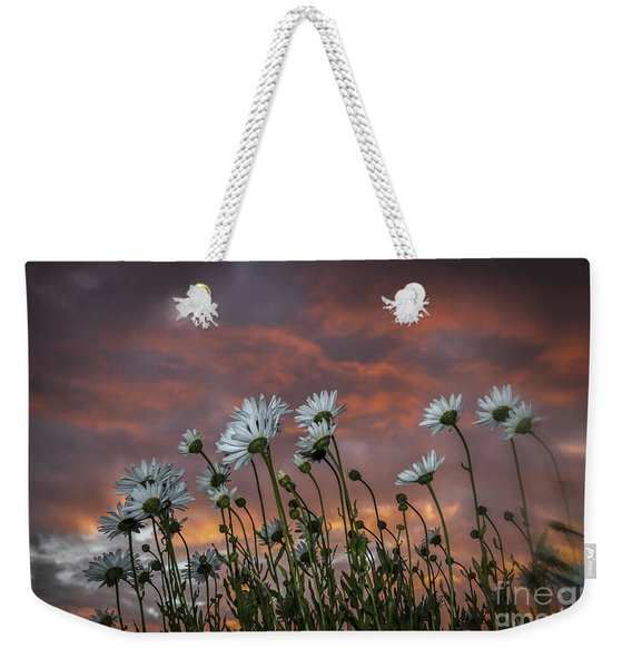 Sunset And Daisies Weekender Tote Bag