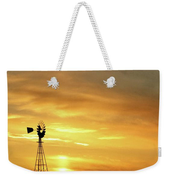 Sunset And Windmill 11 Weekender Tote Bag