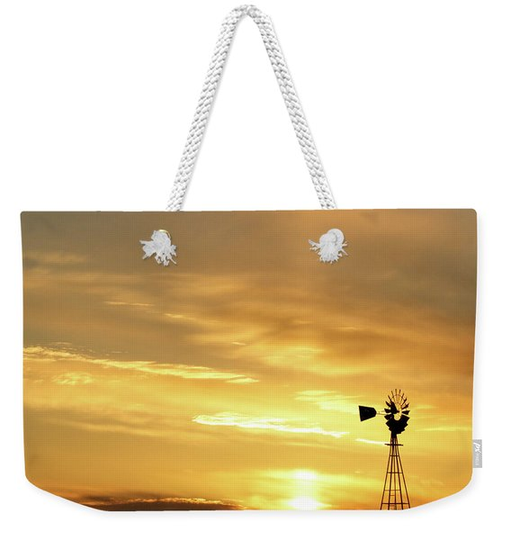 Sunset And Windmill 13 Weekender Tote Bag