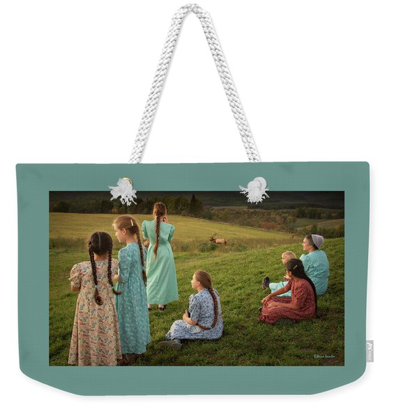 Sunset At Benezette Weekender Tote Bag