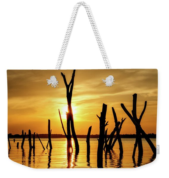 Sunset At Cedar Bluff -01 Weekender Tote Bag