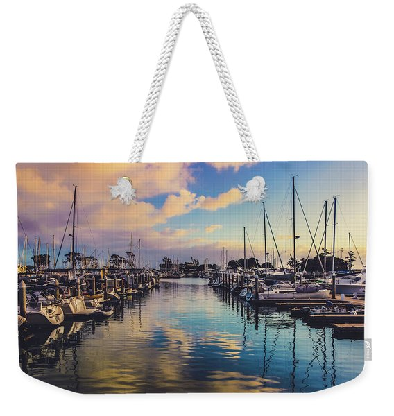 Weekender Tote Bag featuring the photograph Sunset At Dana Point Harbor by Andy Konieczny