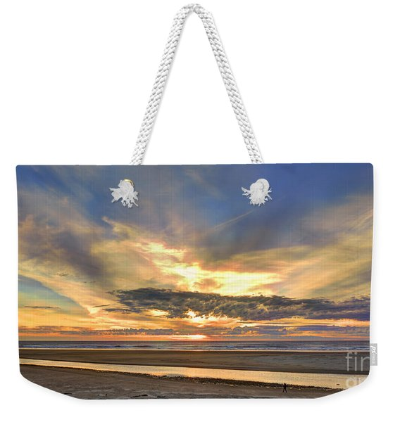 Sunset At Ecola Creek Weekender Tote Bag