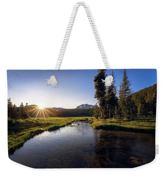 Sunset At Kings Creek In Lassen Volcanic National Weekender Tote Bag