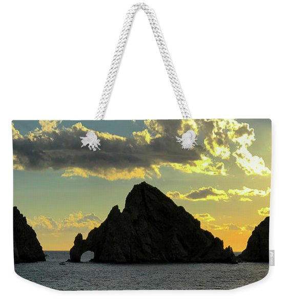 Sunset At Land End The Arch At Cabo San Lucas Weekender Tote Bag