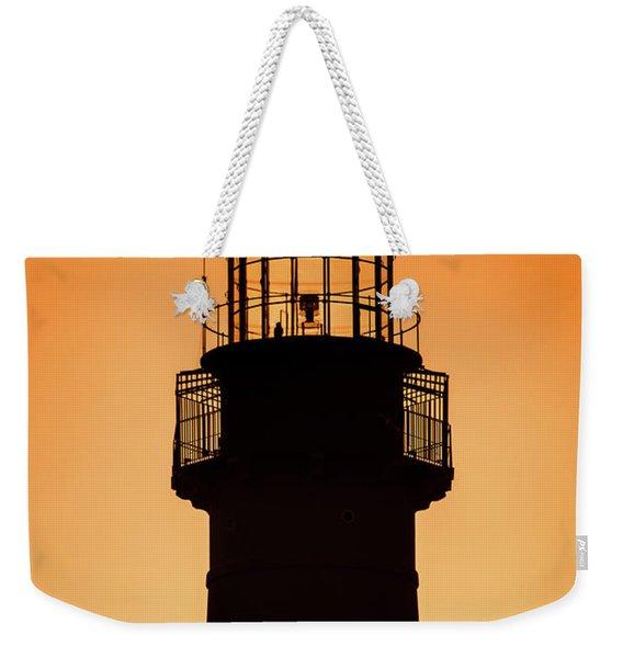 Sunset At Lighthouse Weekender Tote Bag