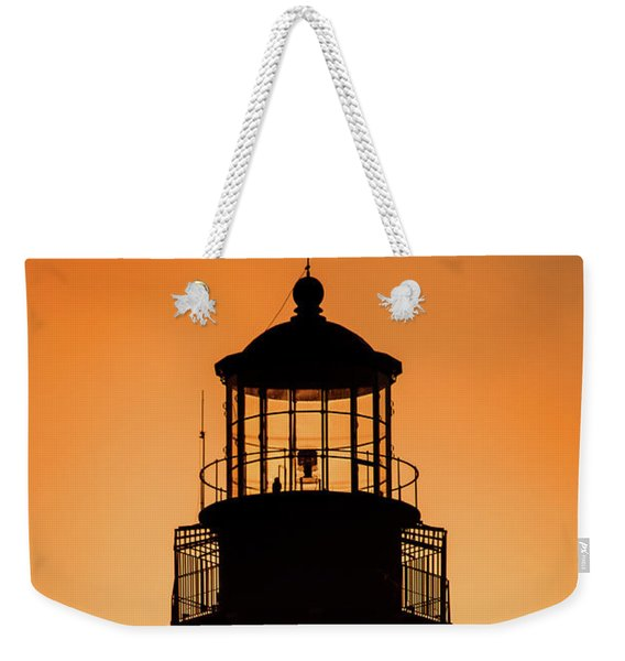 Sunset At Lighthouse Weekender Tote Bag