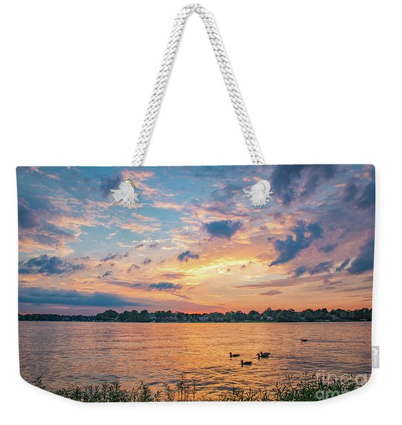 Sunset At Morse Lake Weekender Tote Bag