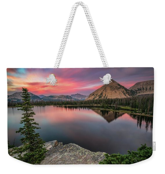 Sunset At Notch Lake Weekender Tote Bag