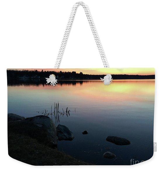 Sunset At Pentwater Lake Weekender Tote Bag