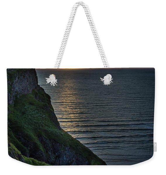 Sunset At Rhossili Bay Weekender Tote Bag