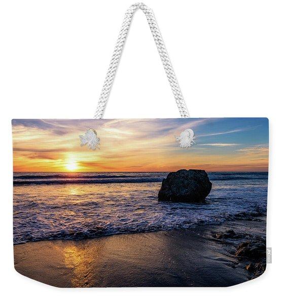 Sunset At San Simeon Beach Weekender Tote Bag