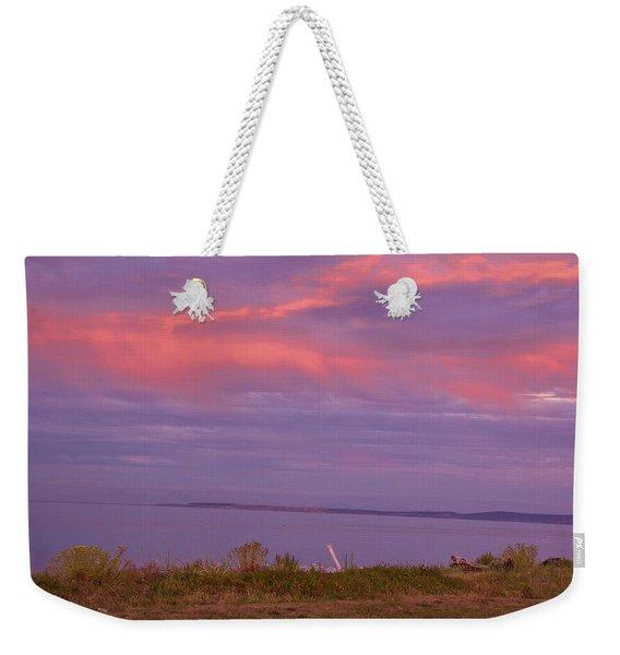 Sunset At Sequim Weekender Tote Bag