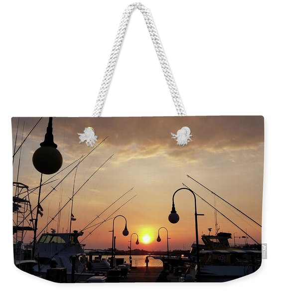 Sunset At The End Of The Talbot St Pier Weekender Tote Bag