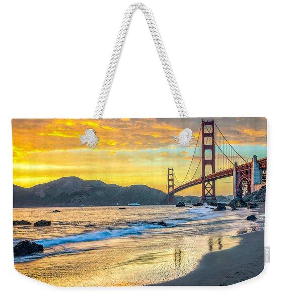 Sunset At The Golden Gate Bridge Weekender Tote Bag