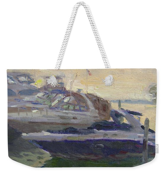 Sunset At The Harbor Weekender Tote Bag